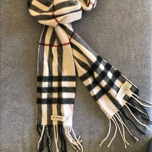 Authentic Burberry Check Cashmere Scarf